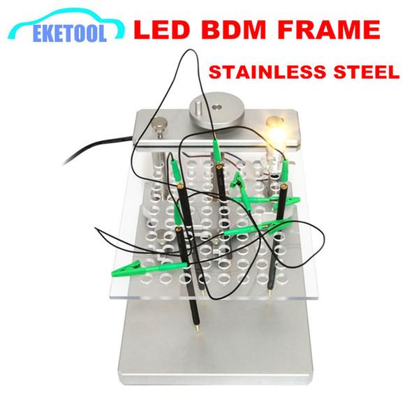 Professional ECU Tool LED BDM FRAME With 4pcs Probe Mesh Assistant Aluminum Alloy Stand Works BDM100/KESS/KTAG/KTM Dimsport