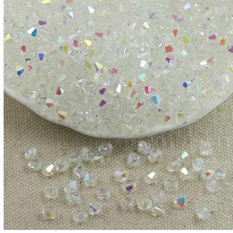 Comercio al por mayor 4 MM 100 unids Austria Granos de Cristal Spacer Glass Bead DIY Pendientes Pulsera Gargantilla Collar Fabricación de Joyas