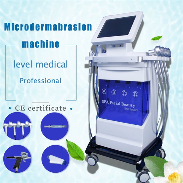 New model Strong Power PDT Light Hydra Dermabrasion RF Bio-lifting Spa Facial Machine Hydro Microdermabrasion Facial Machine Oxygen Jet