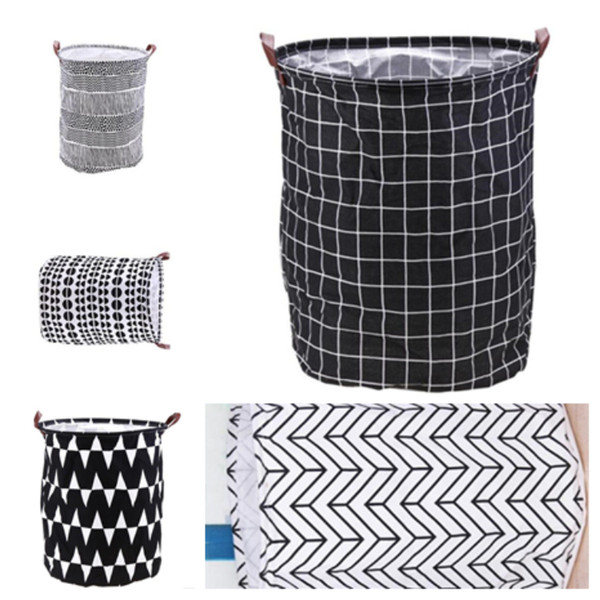 top popular Household folding laundry basket cartoon storage bucket standing toy clothing storage bucket toy storage basket T2I5139 2019