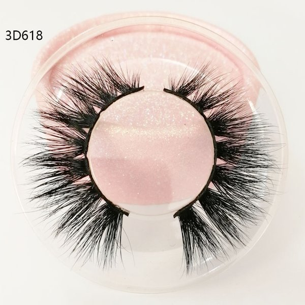 Hot sale 3D real mink hair eyelashes Messy Cross Thick Natural lashes winged lashes Fake Eye Lash clear box private label