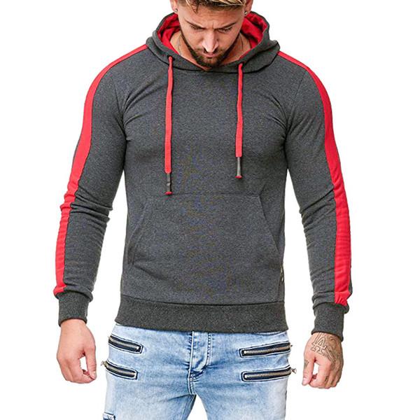 Hoodies Männer 2019 Neue Mode Herbst Wintermantel Streifen Spleißen Taste Sportswear Streetwear 3XL Marke Kleidung sudadera