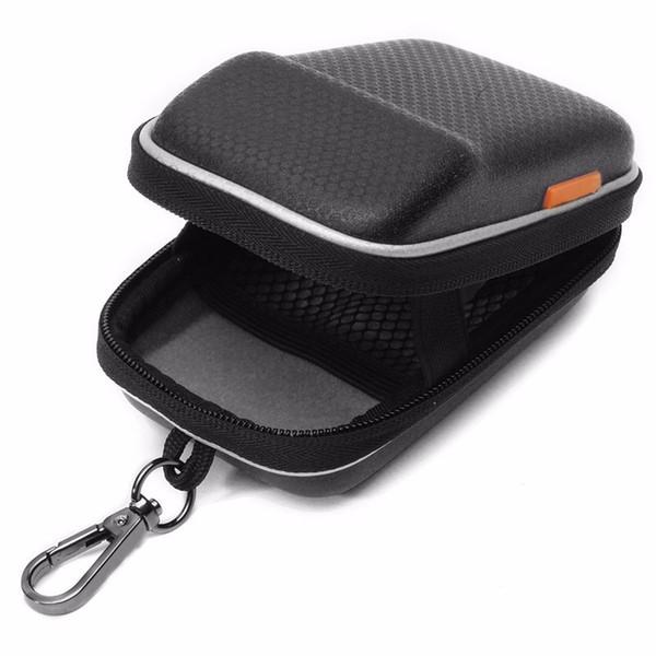 Powstro Camera Case Bag PU a prueba de cuero Digital Camera Bag Estuche rígido Protect Waist Packs Black Backpack
