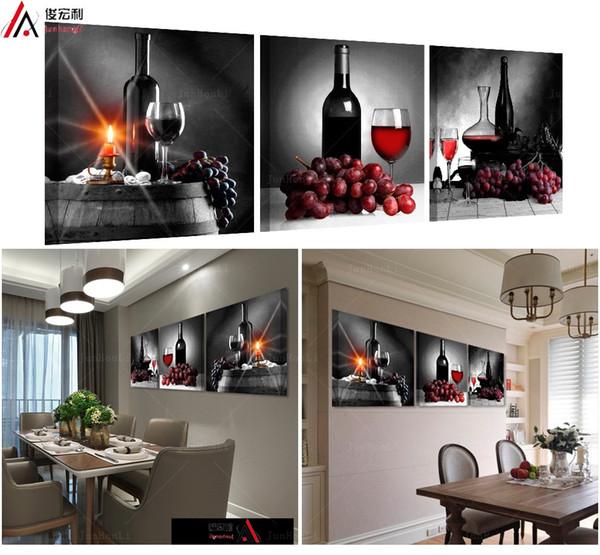 Acheter 3 Pièce Modulaire Photos Sur Le Mur Pour La Cuisine Affiches Et Des Empreintes De Peinture Travail Moderne Toile Art Peintures à L Huile De