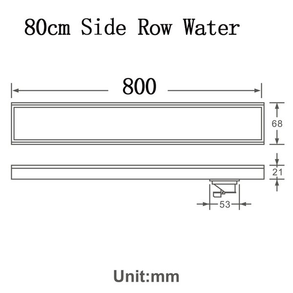80cm Side Row Water