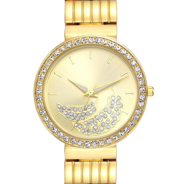 New arrivals Elegant Flower Dial Wrist Watches for Women Crystal Clock 3 Hands PC Movement new year gift free drop shipping