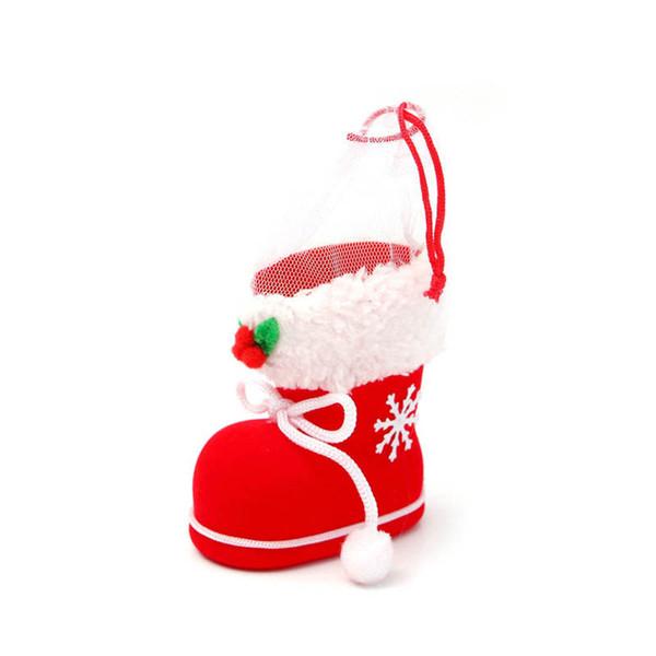 Merry Christmas Santa Çizme Ayakkabı Asılı Şeker Hediye Çanta Noel Ağacı Dekorasyon 899