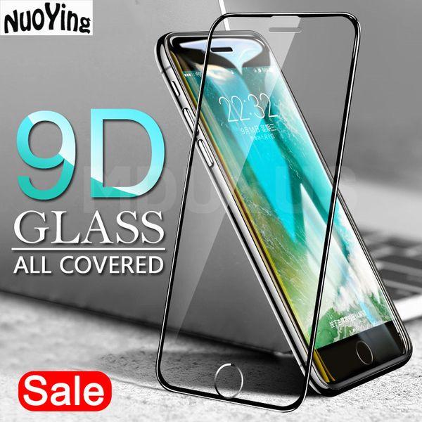 9d cobertura completa de vidro temperado no para iphone x xr xs max protetor de tela para iphone 8 7 6 6 s plus 5 5S se película protetora