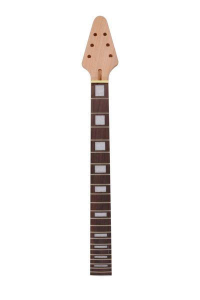 Незавершенные гитара шеи 22fret 25.5 дюймов Палисандр гриф летающая гитара m6