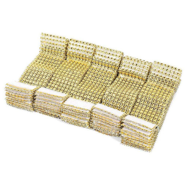 100 Pieces Of Rhinestone Napkin Ring Napkin Holder Nylon Sticker Table Decoration Wedding Christmas