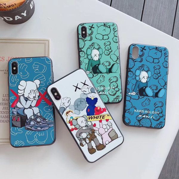 kaws Sesame street Fashion phone cover per iphone xs max 7 8plus cover morbida antiurto in silicone per apple iphone 6 6s xr case