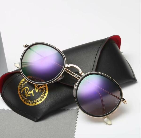 Mit Box rbBrand Designer Sonnenbrillen für Männer Frau Mode Sonnenbrillen Persönlichkeit Trend reflektierende Beschichtung Brillen Multi-Color Optiona