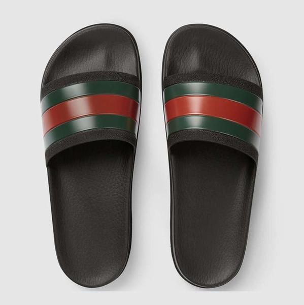 Mens Frauen Sandalen Designer Schuhe Luxus Rutsche Sommer Mode Breite Flache Slippery Sandalen Slipper Flip Flop größe 35-46 blumenkasten