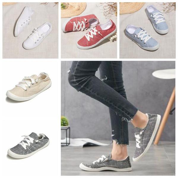 Tuval Ayakkabı Kız Hafıza Köpük Ayakkabı Casual Flats Loafers Yaz Lazy Tek Ayakkabı Sneakers Nefes Chaussures Doğa Sporları Ayakkabı B5955