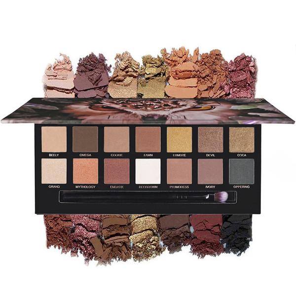 14 Color Eye Shadow Makeup Palette Waterproof Nude Color Natural Flash Matte Eye Shadow Palette ---MS