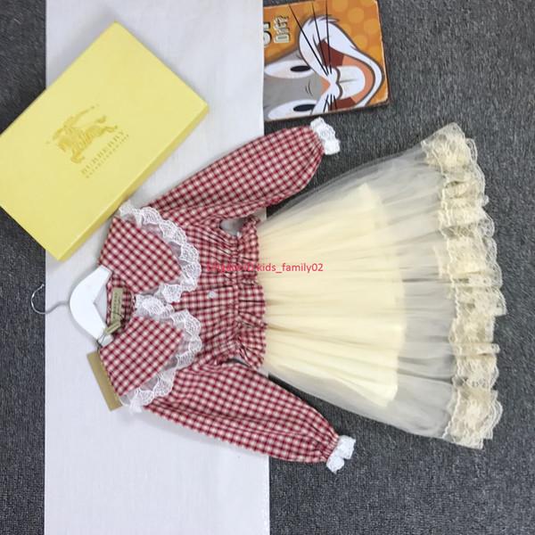 Девушка платье осенняя мода детская дизайнерская одежда из хлопчатобумажной ткани с сеткой юбка подкладка хлопчатобумажное платье шить ткань