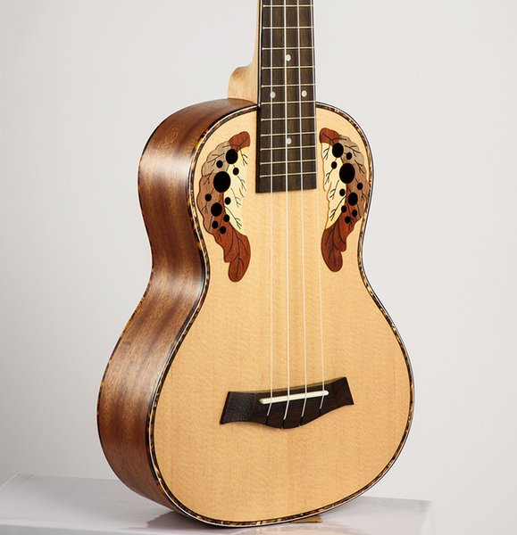 top popular Free shipping High Quality 23 inch Ukulele concert Hawaiian guitar Ingman Spruce Panel Four string small Ukulele for Musical Instruments 2021