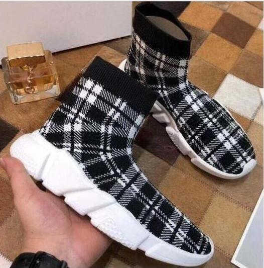 New Paris Speed Trainers Knit Sock Shoe Original Luxury Designer Mens Womens Sneakers Cheap High Top Quality Casual Shoes m5