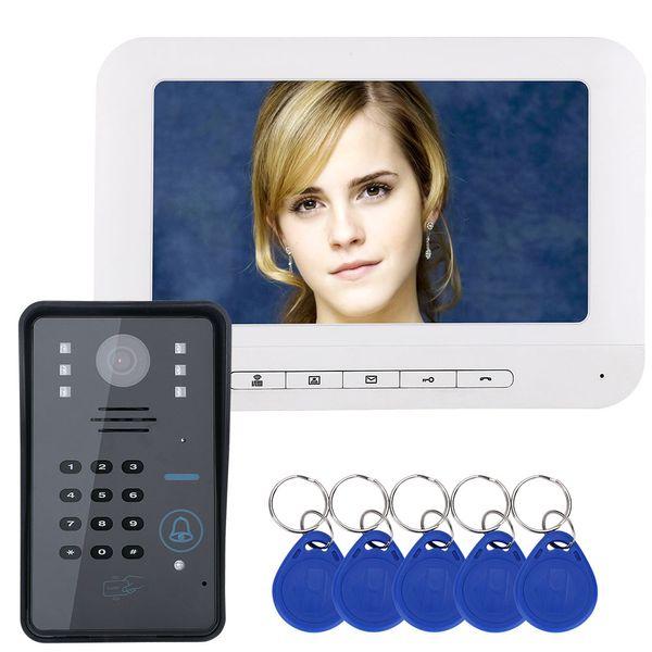 "7"" TFT RFID Password Video DoorPhone Intercom System Wth IR-cut Camera 1000 TV Line Access Control System"