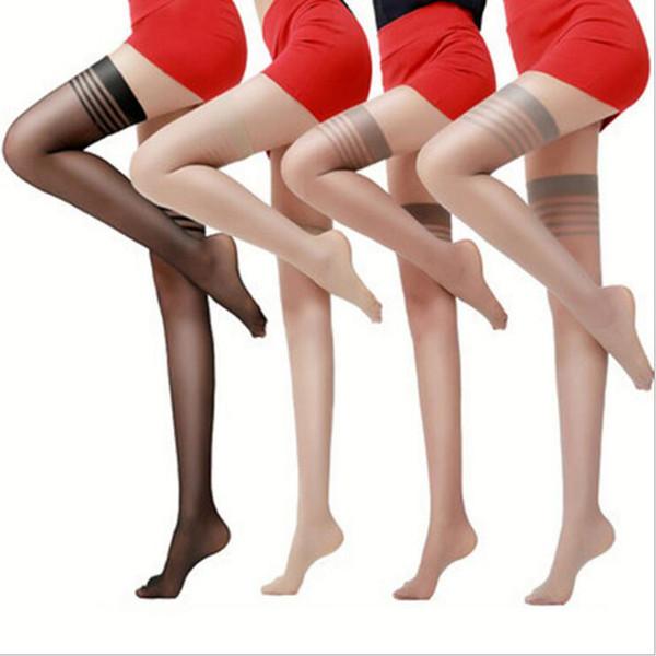 Nuevas mujeres sexy Medias negras de muslo Top sexy Stay Up Stocking Muslo largo Hasta la rodilla Medias altas Discotecas Pantimedias NS9060