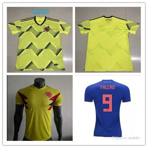 aa1ed4af061 Player Version National JAMES 10 COLOMBIA soccer jerseys 2018 World Cup  Jersey 19 20 FALCAO CUADRADO BACCA soccer jersey shirt camisetas mai