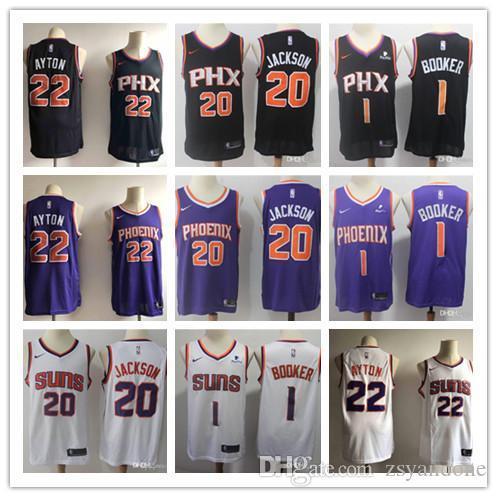 2020 hoenixSoleils Nash Steve 13 22 34 Ayton Charles Barkley Devin 1NBA Booker Josh 20 maillot de basket-ball Jackson DeAndre