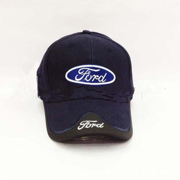 4 colori nero blu rosso bianco copricapo per ford cap auto professione all'ingrosso berretto da baseball f1 tazza da corsa cappello per il tempo libero logo cappello