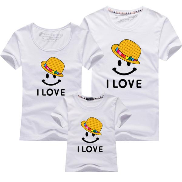Anne Kızı Giysileri Eşleşen Aile Kıyafetleri Kawaii Gömlek Komik Giyim Çocuklar Bebek Kız Baba Anne Severler Üstleri Aile T Gömlek