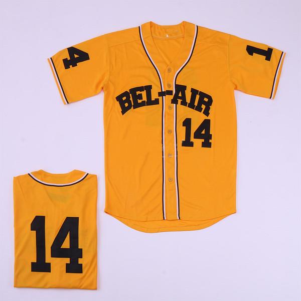14 Yellow Baseball jersey