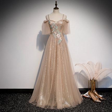 шампанские блестки бабочки рукав длинного платья бальная старинная средневековых платья Ренессанс принцесса фея костюм викторианское платье / Marie