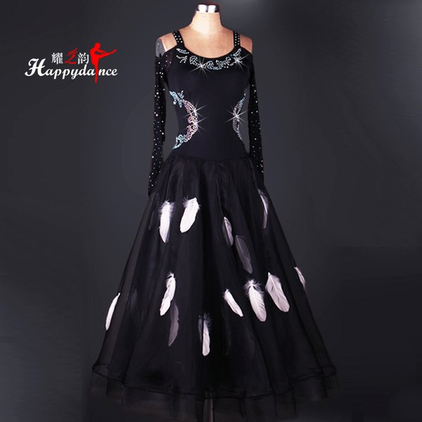 2019 New Costume Sale Ballroom Dance Skirts Newest Design Woman Modern Waltz Tango Dress/standard Competition Dress M046