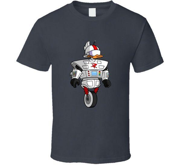 Darkwing Duck Gizmoduck Cartoon T Shirt Mens Tee Size S to 3XL Men Women Unisex Fashion tshirt Free Shipping Funny Cool Top Tee Black