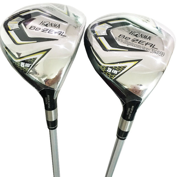 New Men Golf Clubs HONMA BEZEAL 525 Golf Fairway Wood 3/5wood Loft Golf wood Graphite shaft and wood head Cover Free shipping