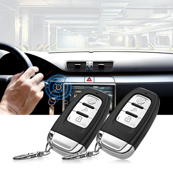 Venda quente C3 Universal 12 V Sistema de Alarme de Carro Sistema Anti-roubo Kit Central Remoto Alarme Visual Audível Com Controle Remoto