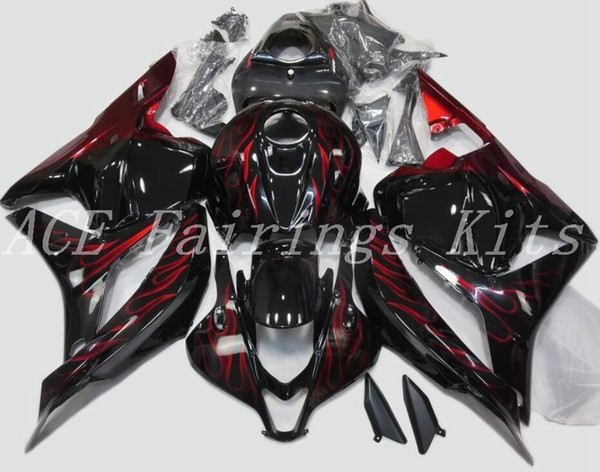 3gifts New ABS motorcycle Fairings Kits Fit For HONDA CBR600RR F5 2009 2010 2011 2012 09 10 11 12 bodywork set custom bike Fairing red flame