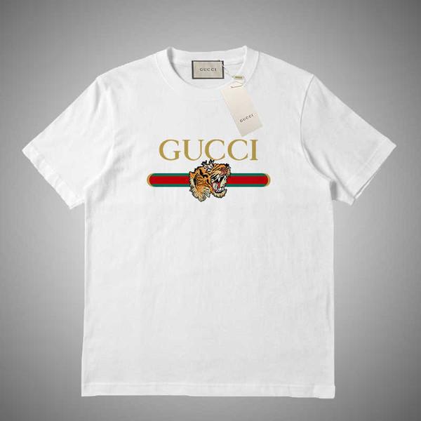 High quality fashion designe short T-shirt European style men's round neck T-shirt 100% cotton short-sleeved men's clothes #74651