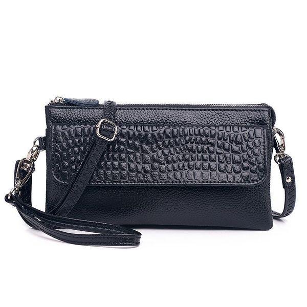 Women Lady Split Leather Handbag Designer Shoulder Bag Luxury Tote Messenger Bag Cross Body Cellphone Purse Wallet Free Shipping
