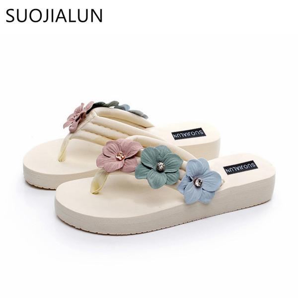 Plus Size 35-42 Women Summer Slippers Fashion Designer Flower Beach Flip Flops Lady Slippers Casual Outdoor Flat Heel Shoes