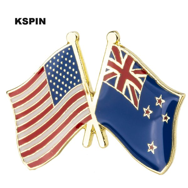 New Zealand Flag Lapel Pin Badge Solid Silver 925