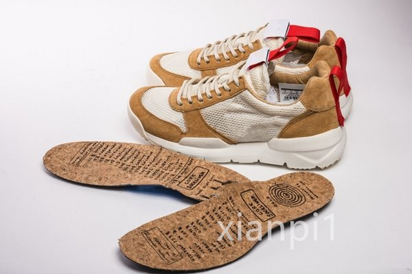 top popular 2020 Tom Sachs Craft Mars Yard TS NASA 2.0 Shoes Red-Maple Unisex Breathable FK Low Camping Hiking Footwear Desinger Sneakers 36-45 2020