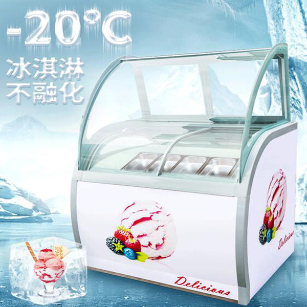 best selling 220V Selling Commercial display cabinet glass food Freezer manual popsicle showcase 14 taste ice cream display cabinets