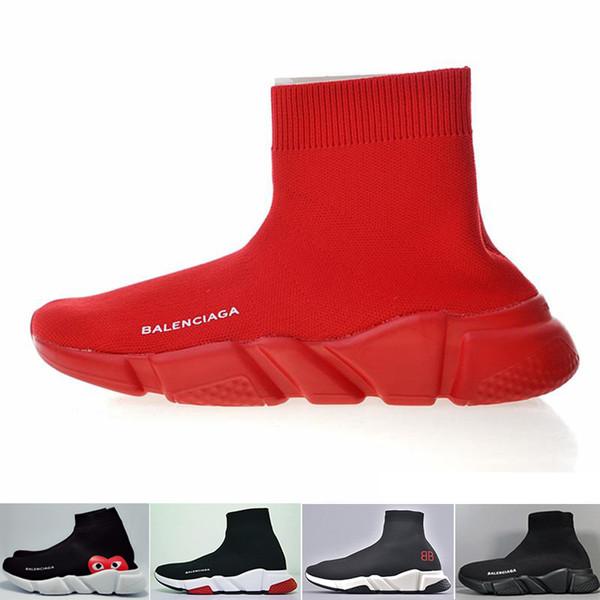 Designer Socken Schuhe Mode Männer Frauen Turnschuhe Speed Trainer Schwarz Weiß Blau Rosa Glitzer Herren Turnschuhe Freizeitschuh Runner schwere Sohle ZKJD