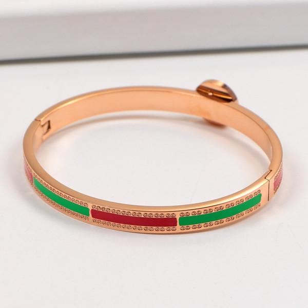 Diseñador de lujo de alta calidad pulseras Charm Bracelet G Steel Rose Gold Pulsera modelos femeninos El nuevo envío de alta calidad