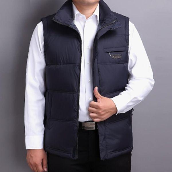 Ördek aşağı yelek erkekler kış kolsuz ceket giyim ilkbahar sonbahar termal üstleri ceket SH190929