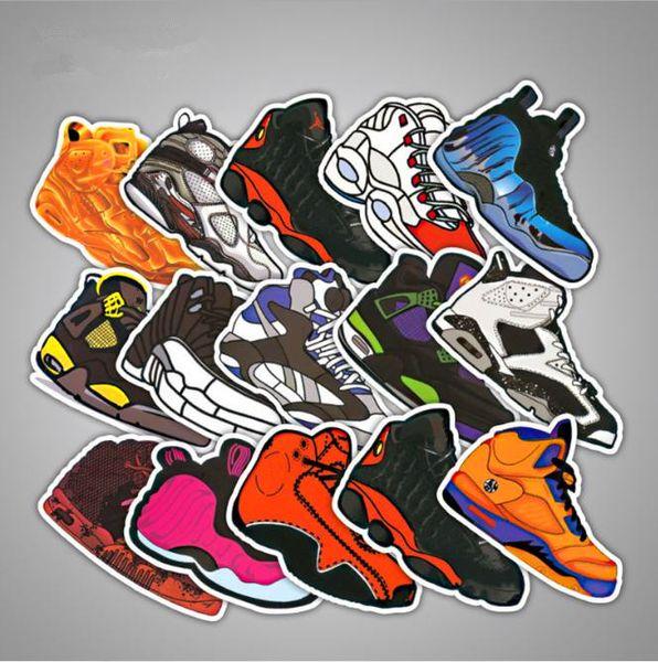 35pcs/pack Not Repeat Mixed Cartoon Jodan SNEAKER Stickers For Notebook Bike Luggage Box Shoes Tide Brand Graffiti Waterproof Stickers