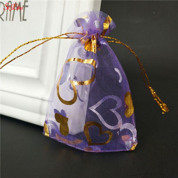 50pcs 7x9 9x12 11x16 13x18 15x20 20x30CM 50pcs Organza Sacs Bijoux Emballage Sacs De Mariage Affichage Cadeau Emballage Pochettes 5z