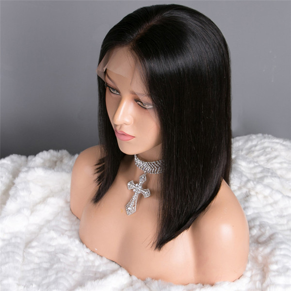 Malaysia 13x6 lace front wig Human Hair Long Straight Wigs Remy Hair Natural Color For Women Free Shipping