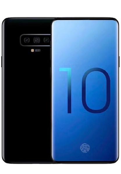 Echtes Fingerprint Goophone S10 Android Handy Quad Core 1 + 8g zeigen Octa Core 4G RAM 128G ROM 4G Smartphone