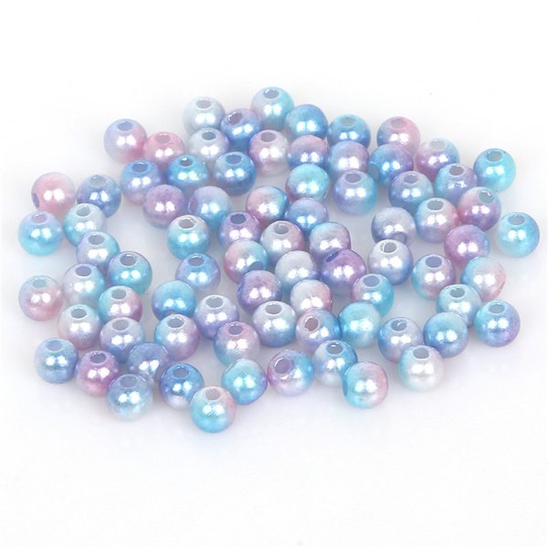 500pcs / set 4mm ABS Perla Gioielli FAI DA TE Perline Multicolore Blu Viola Branello Allentato Rotondo Handmade Craft Making