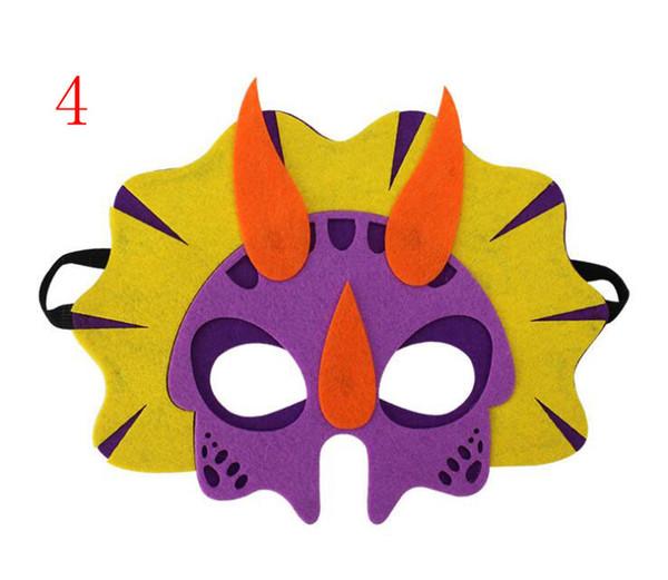 2019 Felt mask children's dinosaur mask Tyrannosaurus unicorn dragon sword dragon triceratops educational toy mask Halloween Party